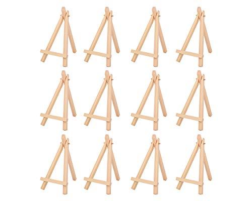 SCSpecial 6 Zoll Mini Holz Staffelei Schreibtisch Display Staffelei Set von 12 Staffelei Ständer für Gemälde Karten Fotos