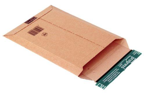 progressPACK Versandtasche Premium PP W01.03 aus Wellpappe, DIN A4, 210 x 292 x bis 50 mm, 25-er Pack, braun