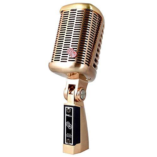 CAD Audio A77 dinámico micrófono supercardioide de gran diafragma para voces en directo con un elegante diseño retro vintage y una robusta carcasa de latón (XLR)