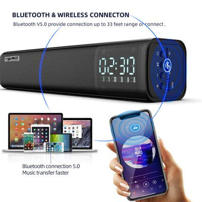 New New Q2 Bluetooth 5.0 Bluetooth Sound 10W Power Built-in 2200 mA Battery Bar Sound