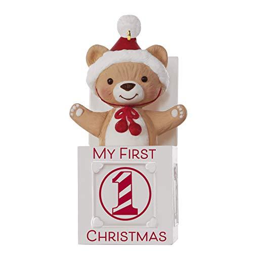 Hallmark Keepsake 2019 Year Dated Baby My First Christmas Jack-in-the-Box Bear Ornament