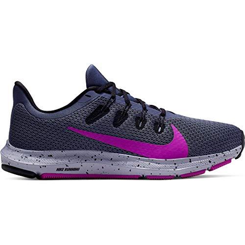 Nike Quest 2 Chaussures de Course pour Femme, Bleu (Violet/Bleu Marine), 36.5 EU