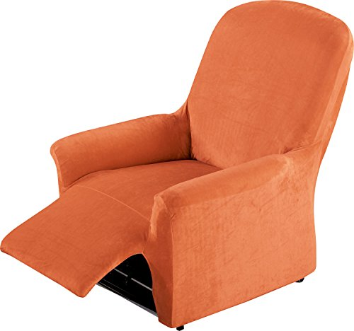 Erwin Müller Stretchbezug, Stretchhusse, Bezug für Relax-Sessel Terra - samtig weiche Oberfläche, praktische Gummizüge, sehr Gute Passform (weitere Farben, Größen)