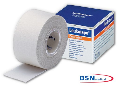 BSN Leukotape Classic, Sport Tape, Tape Verband, 10 m x 2 cm, weiß