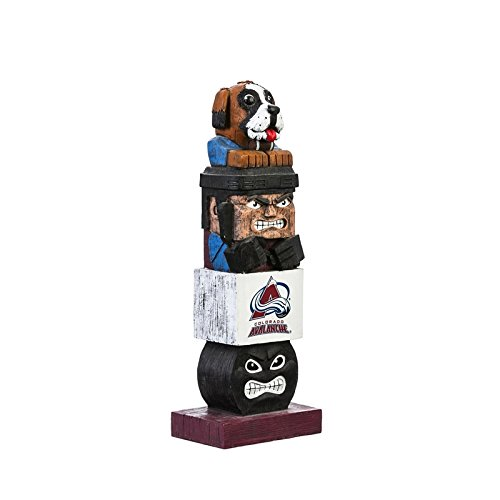 Evergreen NHL Colorado Avalanche Tiki Totem, Team Colors, One Size