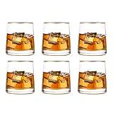 Glasseam Juego De Vasos De Whisky Modernos De 6 Vasos Simples, Vasos De Chupito De 264 Ml, Cumpleaños para Hombres, Papá, Esposo para Vino, Ron, Ginebra, Cóctel