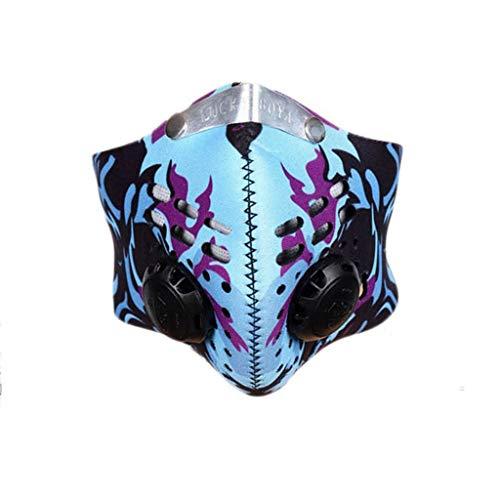 RANTA 26 Estilos Negro Fiesta de Halloween Luminosa Calavera Fantasma Media Cara Máscara de Terror Aterrador | Mascara Reutilizables | Mascarilla filtrada antipolución