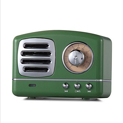 JUKUB Retro Bluetooth Lautsprecher Telefon Subwoofer Kreative Retro Radio Mini Wireless Karte Kleine Audio,Green
