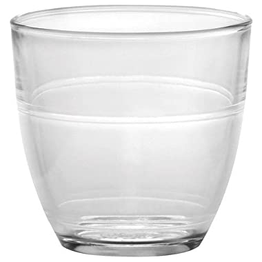 Duralex Made In France Gigogne Glass Tumbler (Set of 6), 3.12 oz, Clear