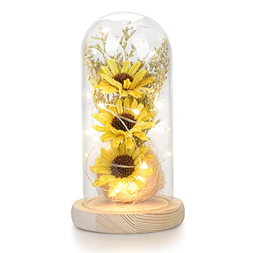 Sunflower Glass Lamp