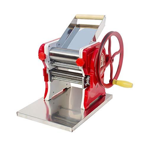 Nudelmaschine,Edelstahl Manuelle Nudelmaschine Professionelle Frische Spaghetti Tagliatelle Maker mit Kurbelgriff und Klemme für Home Kitchen Restaurant