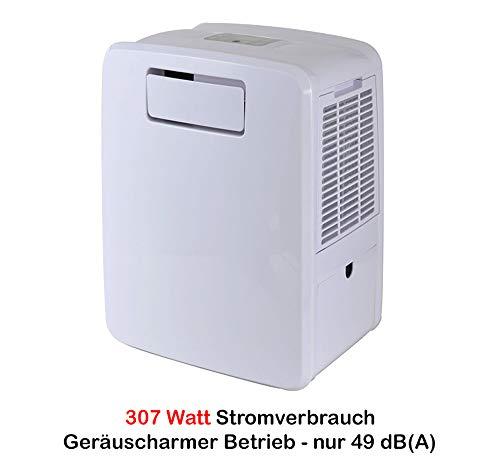 HUKITECH 4-in-1 airconditioner Frost 3000 – slechts 307 watt stroomverbruik. - Slechts 49-50 dB (A) op 1 m afstand (!) - Koeling verwarming luchtbevochtiging 2 koelmogelijkheden airco apparaat
