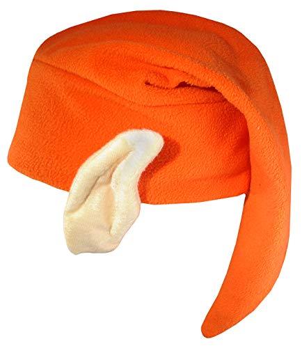 Nicky Bigs Novelties Unisex Cleveland Football Team Mascot Elf Hat with Ears Costume Accessory, Orange, One Size