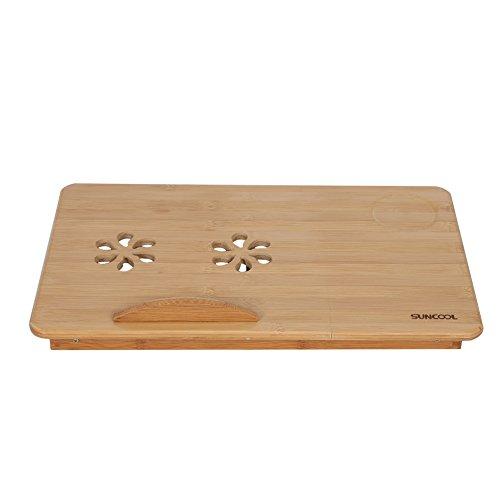 Sollmey Escritorio de Regazo para Cama-Cama de bambú Plegable portátil Escritorio para computadora portátil Bandeja de Soporte de Mesa para portátil Ajustable con cajón