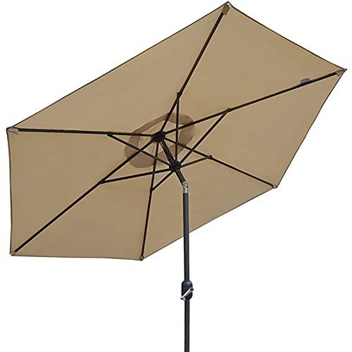 Qivor Parasol de Table d'extérieur pour Parasol de Patio de 250 mm avec Inclinaison/manivelle à Bouton-Poussoir pour terrasse de Piscine Parfaite