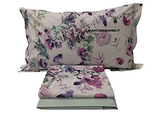 Somma Juego de sábanas amatista para cama de matrimonio 250 x 290 cm, de percal de algodón Aloe