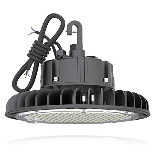 High Bay LED Shop Lights 100W 14,000LM (140LM/W) 1-10V Dimmable, UL Listed 4000K HYPERLITE LED High Bay Light for Factory Work Shop Garage, Alternative to 450W MH/HPS, 5-Year Warranty