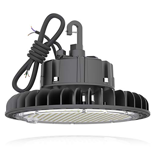 HYPERLITE 14000LM?100W? Dimmable LED UFO High Bay Lighting UL/DLC Premium Listed | Warehouse Commercial Grade | US Hook Included | Alternative to 450W MH/HPS | 5 Yr Warranty, 100W/14,000LM, 4000K