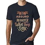 Photo de Homme T Shirt Graphique Imprimé Vintage Tee Be Yourself Absurd Marine