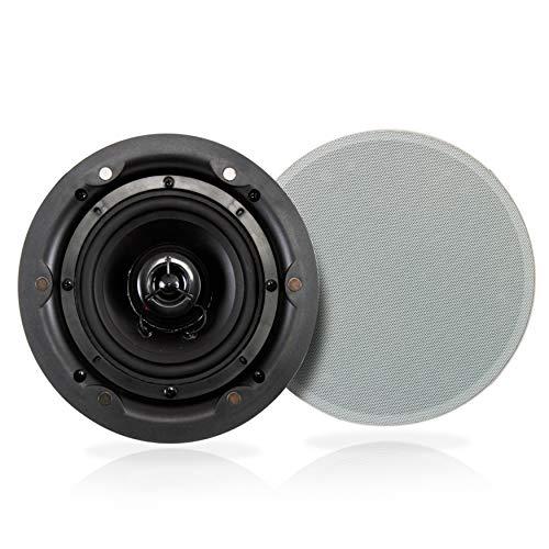 "6.5"" Ceiling Wall Mount Speakers - 2-Way Full Range Active Passive..."