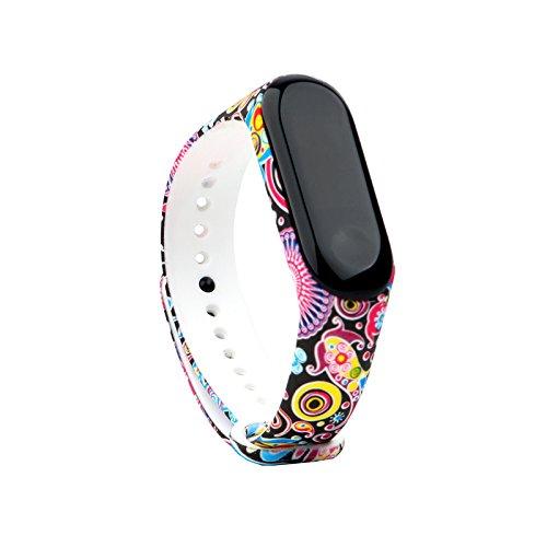 Fit-power - 3 cinturini di ricambio per lo Smart Watch Xiaomi Mi Band 3, non adatti per Mi Band 2/1S, Miband3-04