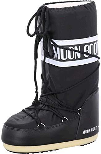 Moon Boot 140044, Stivali Invernali Unisex, Materiale suola: Gomma, Nero (Nero), 35-38