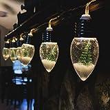 Cadena de Luz para Navidad Guirnalda de Luces Navideños Bombillas de Nieve y �rbol Lámpara LED Interior y Exterior Decoración Luminosa Iluminación Decorativa para �rbol de Navidad 0,8M Blanco Cálido