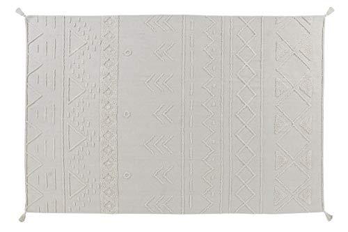 Lorena Canals Tapis Lavable en Machine Tribu Natural 97% Coton 3% Autres Fibres Base: Coton recyclé -Marron, Beige- 170x240cm