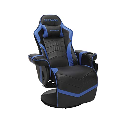 RESPAWN 900 Racing Style Gaming Recliner, Reclining Gaming Chair, in Blue RSP...