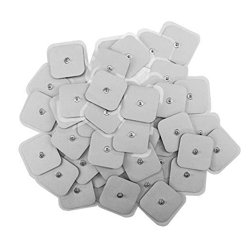 TEEAN 50 Piezas Tens de Electrodos Almohadilla de Electrodos para Parches de Electrodos Autoadhesivos para MáQuinas de Terapia TENS Fisioterapia