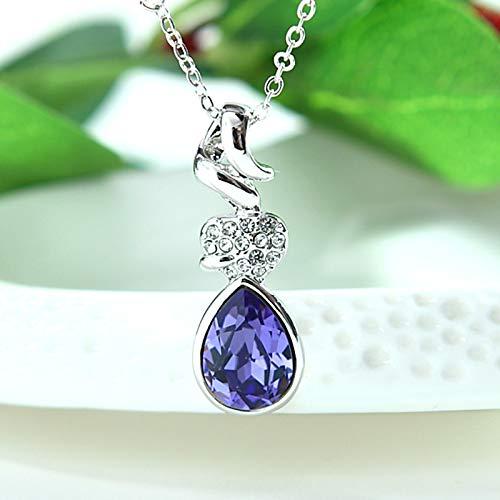 MOAOJD Collar de Las mujeresCollar de la Isla mágica de Cristal Austriaco del Amor, Z09