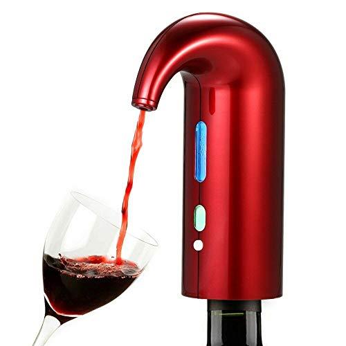 Rosso Versatore Ricaricabile per Distributore Automatico Multi-smart e ossidante per Aeratore e Distributore di Vino Rosso Wine Aerator