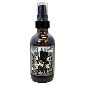 GRAVE BEFORE SHAVE Gentlemen's Blend Beard Oil (Bourbon/Sandal Wood Scent) 4 oz. BIG BOTTLE 12