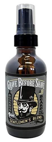 GRAVE BEFORE SHAVE Gentlemen's Blend Beard Oil (Bourbon/Sandal Wood Scent) 4 oz. BIG BOTTLE 1