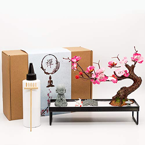 Japanese Zen Garden Meditation Gifts – Home Office Zen Decor Zen Gifts for Women Lady Friends –...