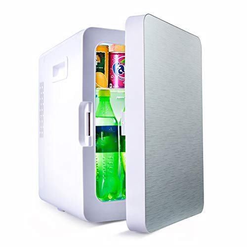 20L portable fridge freezer (car and home), AC or DC Powered Cooler, Electric Cool Box Insulated Cooler and Warmer, 12V 210V-240V, Energy efficient-Mirrorsilver