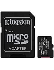Kingston Canvas Select Plus microSDCard Met SD-adapter 256GB zwart