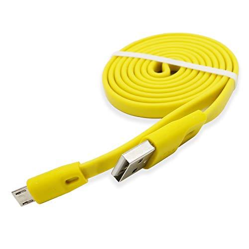 Cable de Carga de Repuesto para Logitech UE Boom/Boom 2/ Boom 3 Megaboom, Miniboom, Altavoz inalámbrico y Auriculares Logitech, Color Amarillo