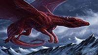 大人のための1000ピースパズル、ジグソーパズル雪山で飛ぶ1000ピース赤大人のパズルキッズパズルパズルおもちゃDiyキット家の装飾(75x50cm)ジグソー