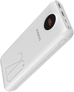 ROMOSS モバイルバッテリー 20000mAh 大容量 PD3.0対応 QC3.0対応 18W急速充電 3USB出力ポート Type-C入出力 携帯充電器 ポータブル充電器 スマホ充電器 最大出力18W LCD残量表示 3台同時充電可能 P...