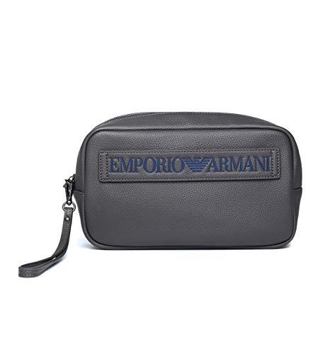 Emporio Armani beauty case viaggio uomo, grigio