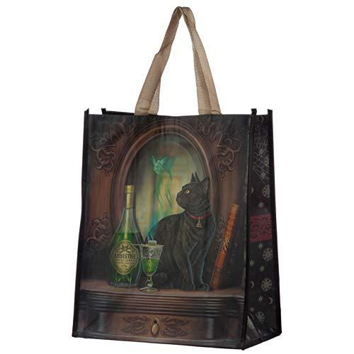 St@llion Absinthe Cat Lisa Parker Wiederverwendbare Einkaufstasche, stabil, leicht, geräumig
