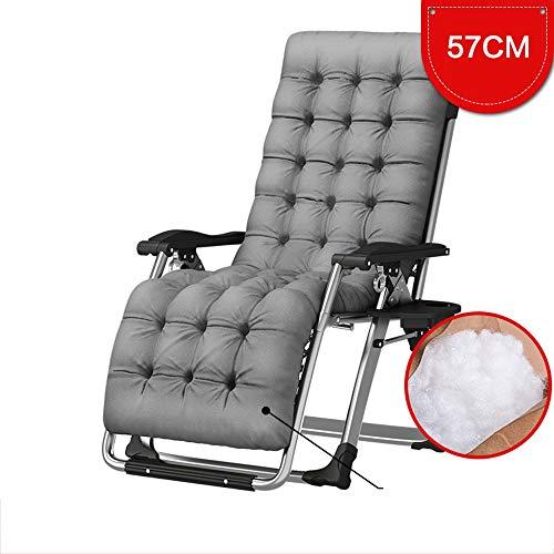 YLCJ Koop lounge stoel- Vouwstoel Enkel bed Lunch break Eenvoudige opklapbare eetkamerstoel Lunch break Office Siesta Camp bed-Verstelbare draagbare klapstoel (Kleur: grijs)
