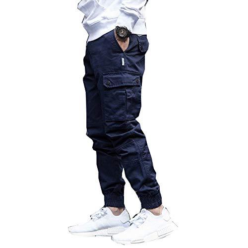 Moda Streetwear Hombres Jeans Big Pocket Casual Cargo Pantalones Japonés Vintage Designer Hip Hop Joggers Pantalones Hombres Pantalones Harem