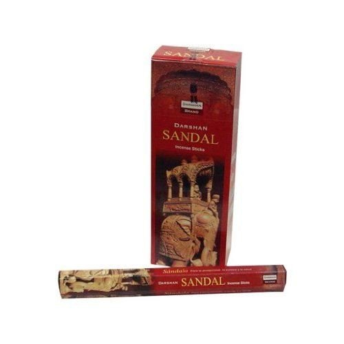6 Box/Pack 120 Sticks total Darshan Encens SANDAL Quality Incense Fragrance from India