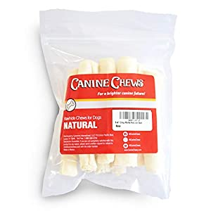 5-6″ Skinny Rawhide Chip Rolls for Small Dogs Long Lasting Dog Treat Chews Dog Toy Rawhide Sticks