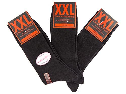 SOUNON 6 Paar Übergröße Herren Socken XXL Gr. 47-52 (70010)