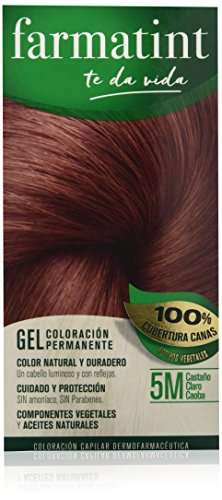 Farmatint Gel 5M Castaño Claro Caoba | Color Natural y Dura