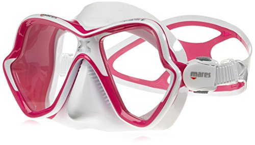 Mares X-Vision Ultra LS - Gafas de Buceo Unisex, Color Rosa/Blanco, Talla Bx Regular