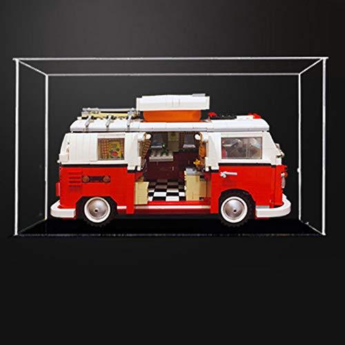 iCUANUTY Acryl Vitrine für Lego 10220 - VW T1 Campingbus, Staubdichte Vitrine für Modelle Sammlerstücke (Nur Vitrine) (2mm)
